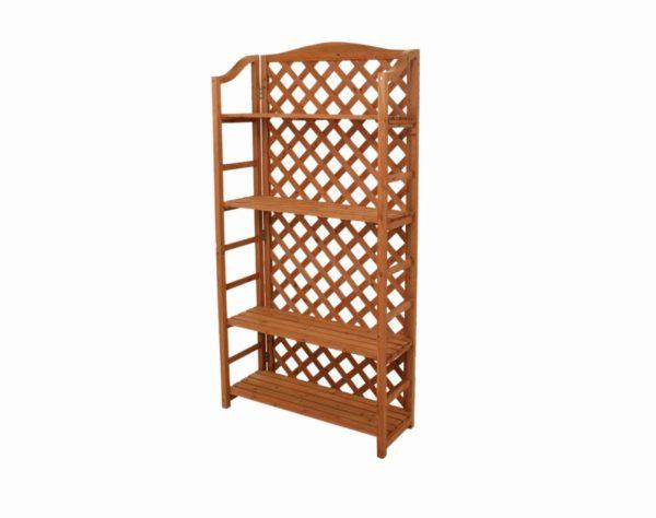 Scaffale grata 4 piani in legno