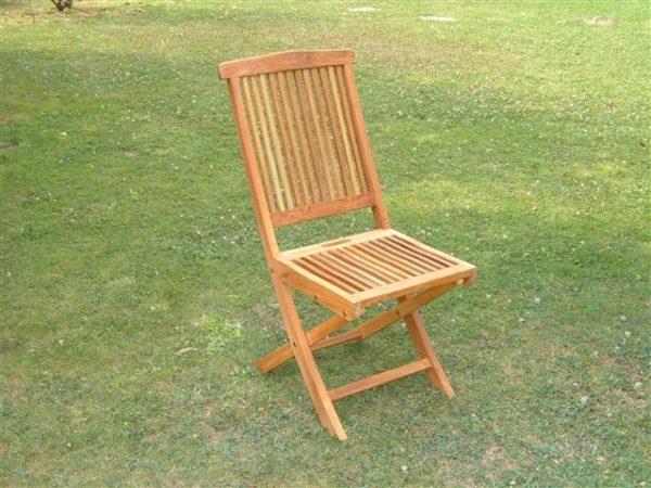 Sedia in legno di teack