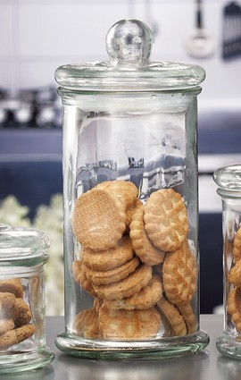 Barattolo porta biscotti con coperchio
