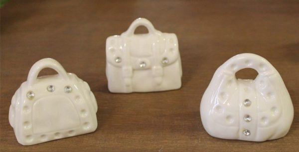 Borsetta in ceramica con strass