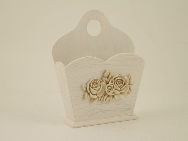 Tasca multiuso con fiori e rose rilievo
