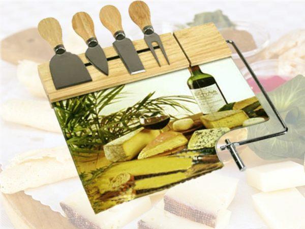 Tagliere set 6 pz formaggio 5 coltelli