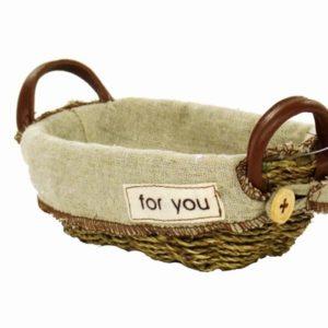 Cestina cordy con fodera juta mini ovale for you