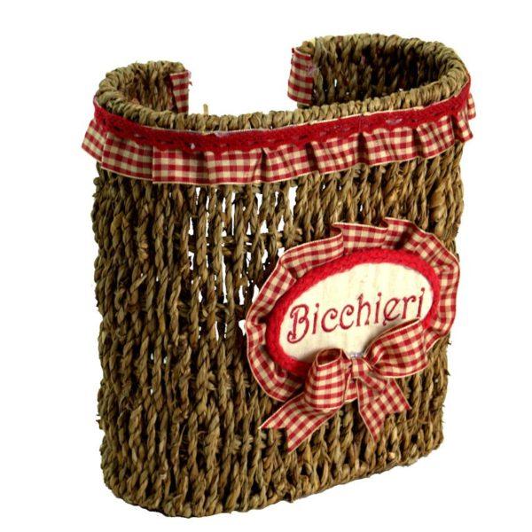 Portabicchieri Scozia rosso cordi
