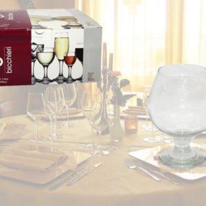 Calice cognac confezione da 6 bicchieri