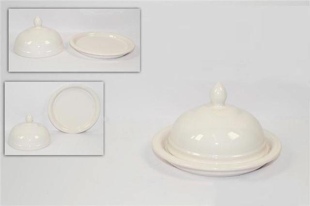 Burriera ceramica bianca