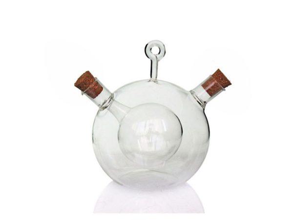 Ampolla olio aceto in vetro con tappi di sughero