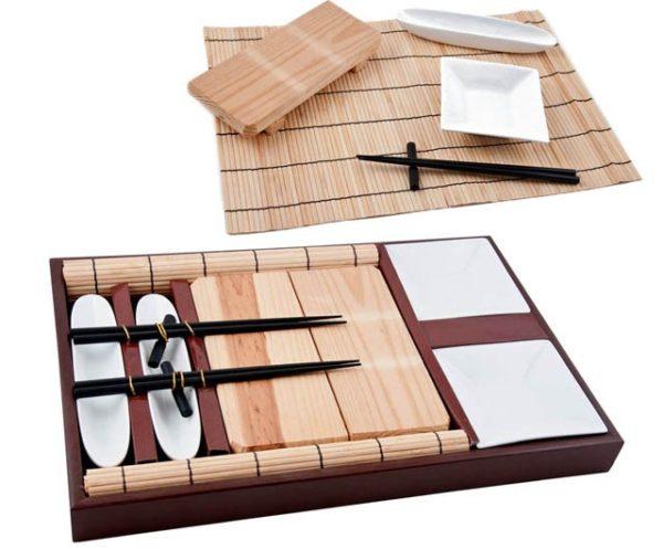 Vassoio rettangolare +tagliere +ciotoline bamboo