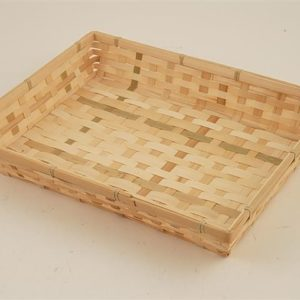 Vassoio in bamboo rettangolare