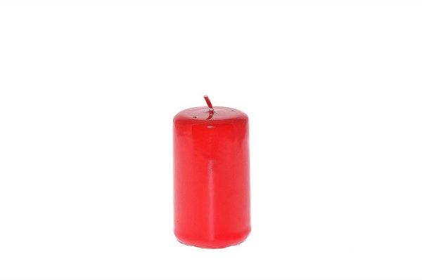 Candela pillar lucida rossa