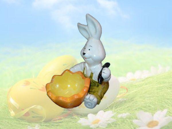 Portauovo coniglio ceramica