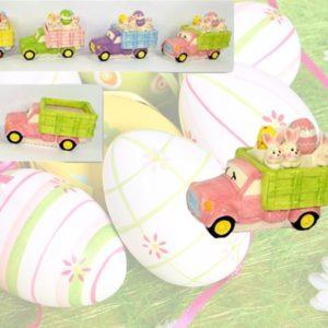 Cofanetto A Forma Di Camioncino Con Decorazione Coniglio