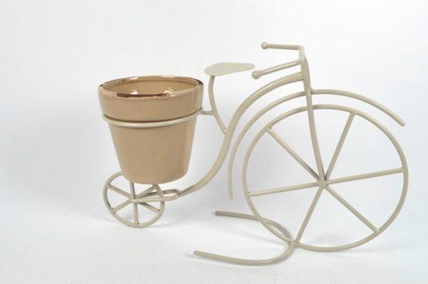 Bicicletta metallo con vaso