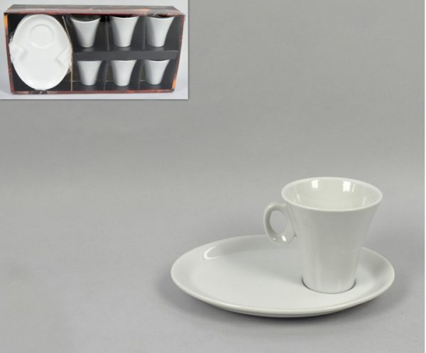 Tazza Espressino Con Piatto Ovale 100ml