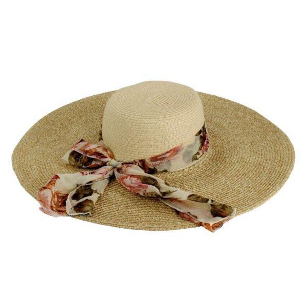 Cappello donna con fascia e foulard fiorato
