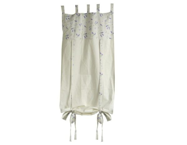 Tenda tessuto lavanda cuori