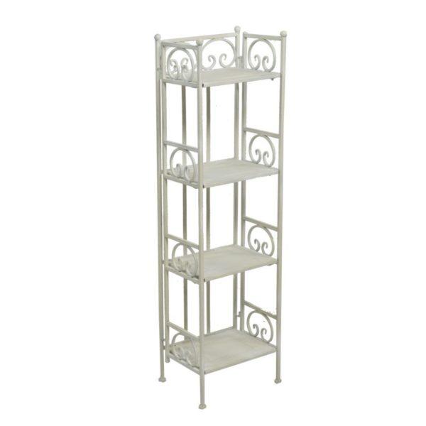 Scaffale in ferro bianco 4 piani