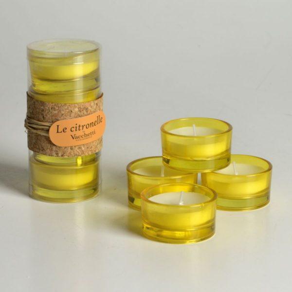 Set 2 Confezioni Di Candele Citronella T-Light Da 4 Pezzi