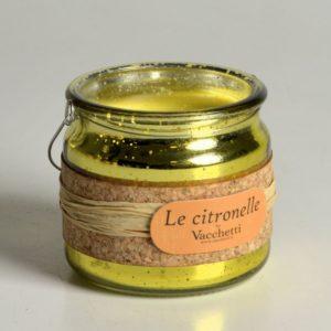 Set 2 Candele Alla Citronella In Bicchiere Di Vetro Da Appendere