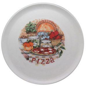 Piatto pizza in ceramica