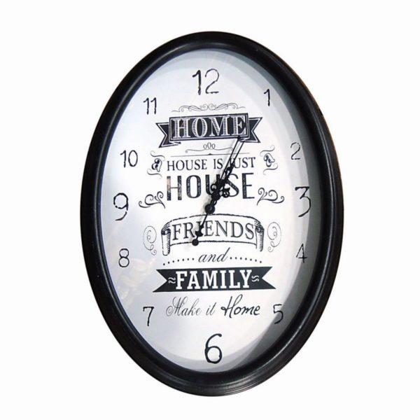 Orologio da parete in metallo ovale