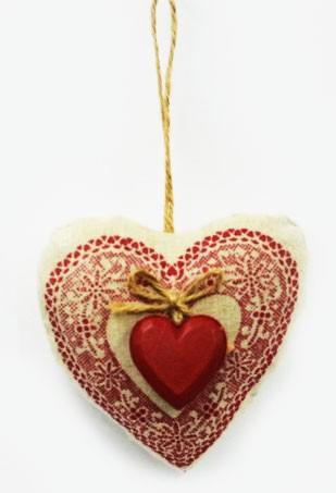 Decorazione cuore stoffa