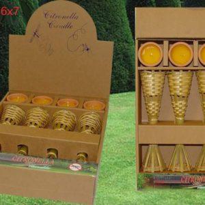 Confezione 4 fiaccole citronella