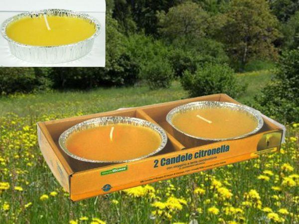 Set 3 Confezioni Di 2 Vasetti Citronella Tonda Alluminio