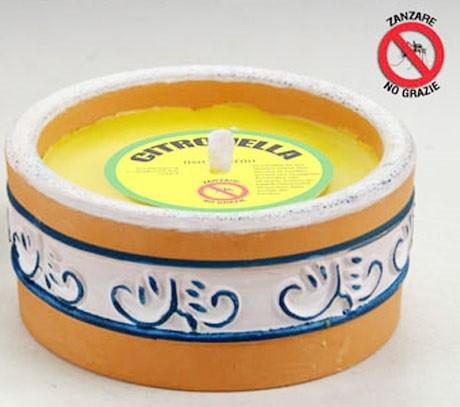 Ciotola rotonda citronella decorata