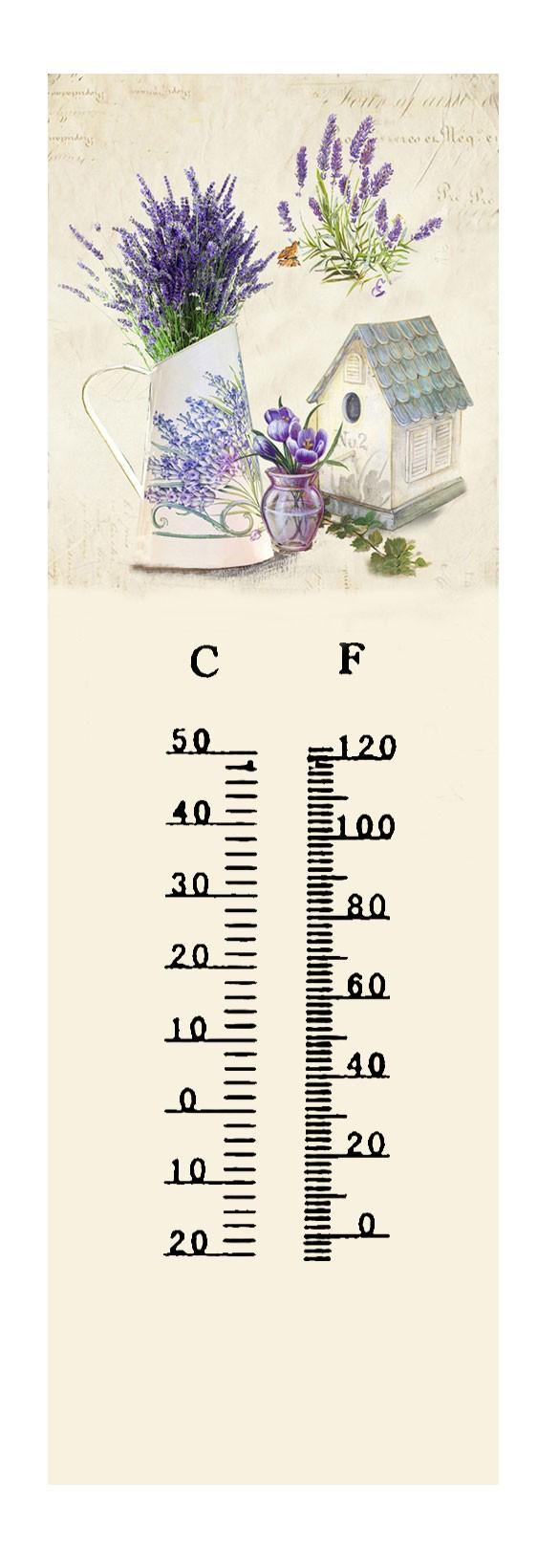 Termometro metallo lavanda