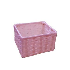 Cestino in fettuccia colorato