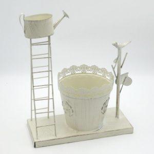 Portavaso metallo Imperia bianco con scala