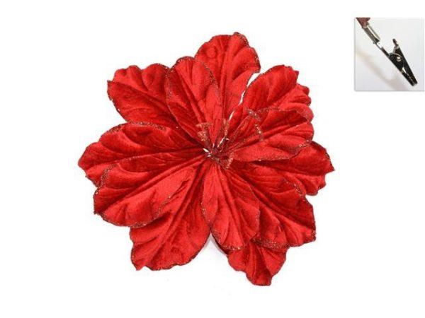 Fiore Rosso con pinza