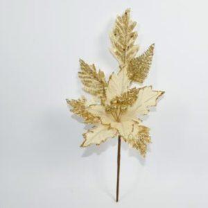 Spillone Fiore Beige-Oro