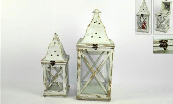 Lanterna legno con metallo