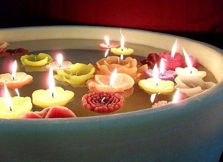 Candele galleggianti anemone