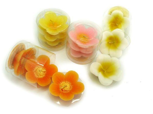 Candele galleggianti fiore
