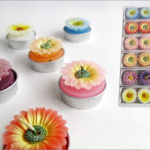 Set 3 Candele Tea-Light Margherita 6 Colori