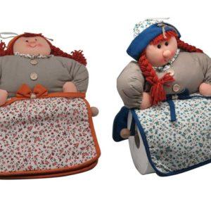 Porta scottex bambola