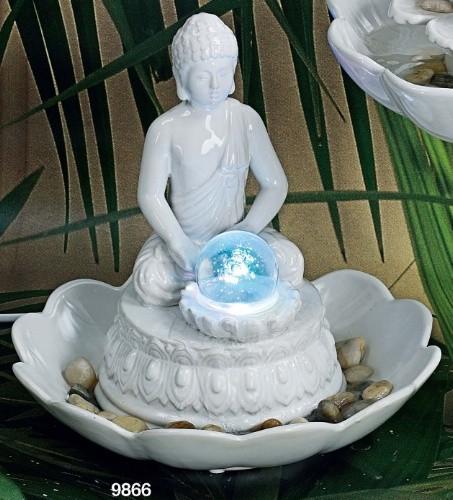 Fontana buddha ceramica bianca
