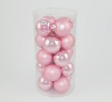 Set palle rosa in vetro