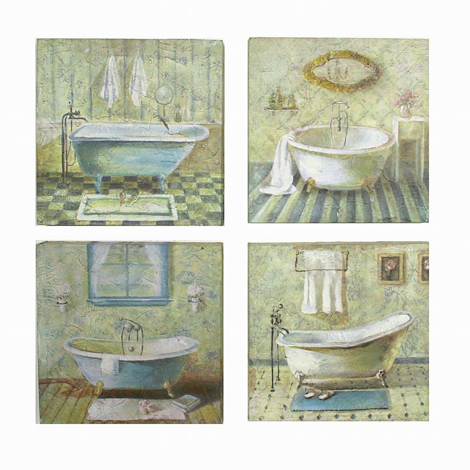 Quadro in legno vasca da bagno ferrini gift - Quadri da mettere in bagno ...