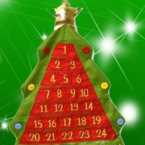 """Calendario dell'Avvento """"Albero in Feltro"""""""