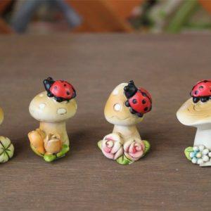 Funghetti in Ceramica