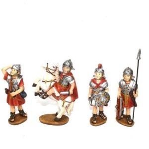 Set 4 Pezzi Soldati Romani