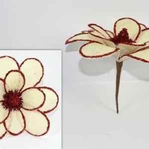Spillone Fiore con Pigna Rosso