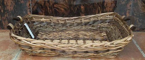 Cesta Vimini Fascia Marrone Rettangolare Svasato Cm57X40H10/13,5