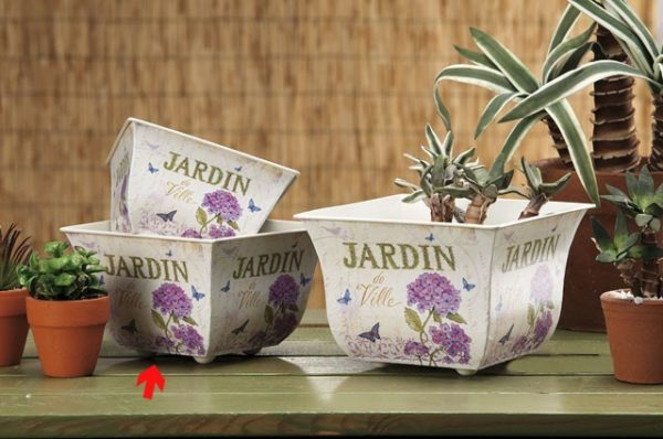 Fioriera Quadrata Jardin in Latta