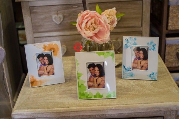 Portafoto con decorazione a fiori