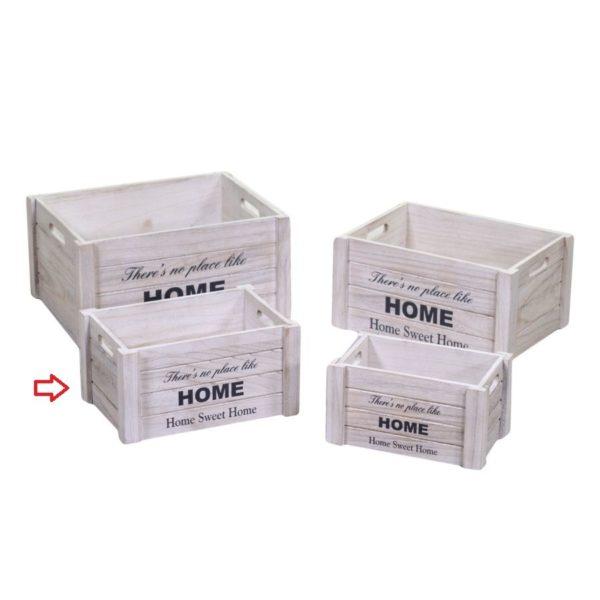 Cassette in legno bianco Home